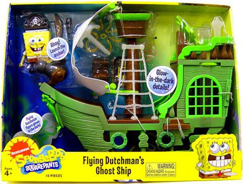 Spongebob Squarepants Flying Dutchman's Ghost Ship Playset