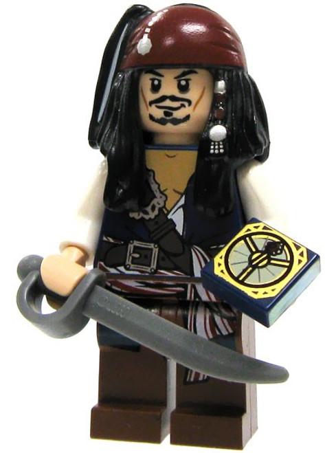 LEGO Pirates of the Caribbean Captain Jack Sparrow Minifigure [Cutlass & Compass Loose]