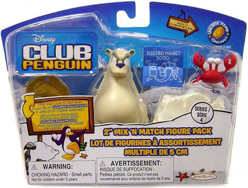 Club Penguin Mix 'N Match Series 4 Herbert P. Bear, Esquire and Klutzy the Crab Mini Figure Set