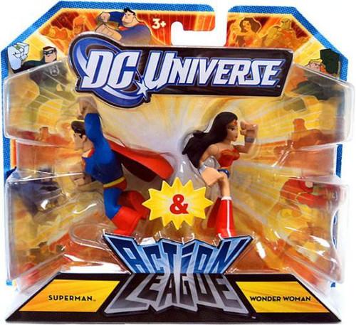 DC Universe Action League Superman & Wonder Woman 3-Inch Mini Figures