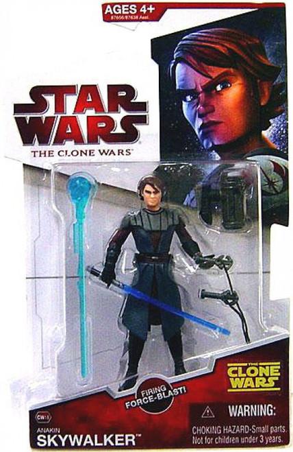 Star Wars The Clone Wars 2009 Anakin Skywalker Action Figure CW18 [Firing Force-Blast]
