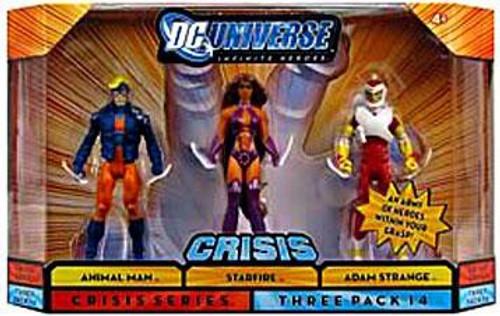 DC Universe Crisis Infinite Heroes Animal Man, Starfire & Adam Strange Action Figure 3-Pack #14