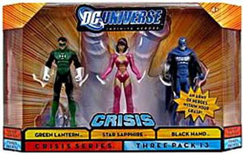 DC Universe Crisis Infinite Heroes Green Lantern, Star Sapphire & Black Hand Action Figure 3-Pack #13