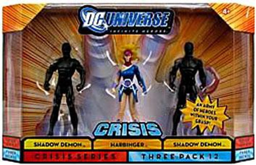 DC Universe Crisis Infinite Heroes Shadow Demon, Harbinger & Shadow Demon Action Figure 3-Pack #12