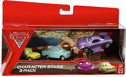 Disney / Pixar Cars Cars 2 Holley Shiftwell, Acer & Trunkov Character Stars Die Cast 3-Pack