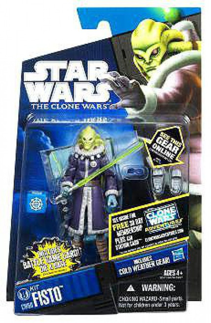 Star Wars The Clone Wars 2011 Kit Fisto Action Figure CW60 [Cold Weather Gear]