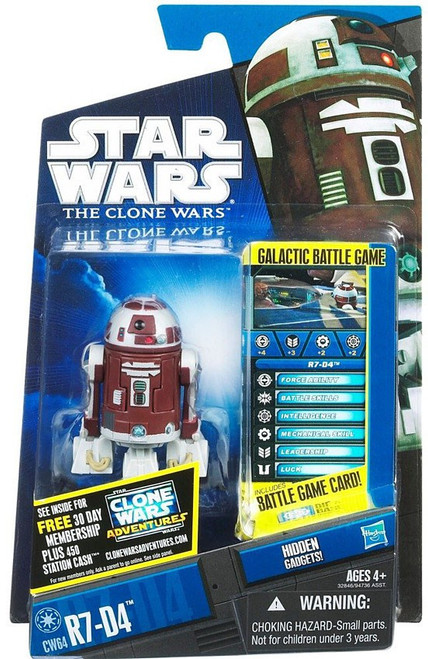 Star Wars The Clone Wars 2011 R7-D4 Action Figure CW64