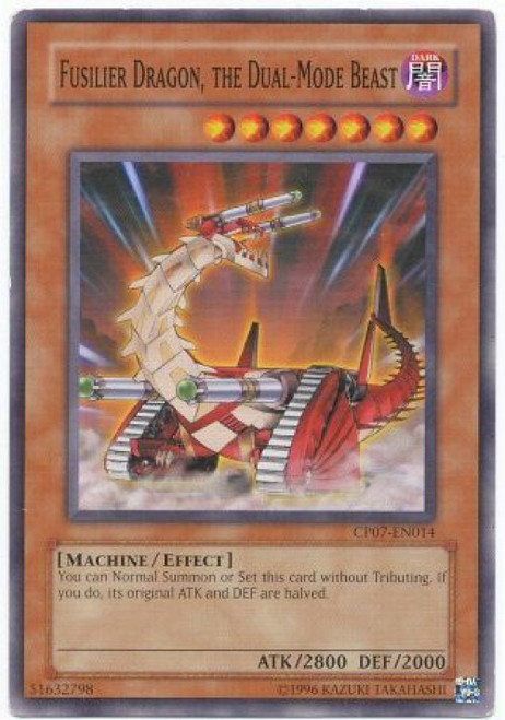 YuGiOh Champion Pack: Game 7 Common Fusilier Dragon, The Dual-Mode Beast CP07-EN014