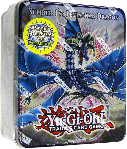 YuGiOh Trading Card Game 2011 Series 1 Number 17: Leviath Dragon Tin Set [5 Booster Packs & 5 Cards!]