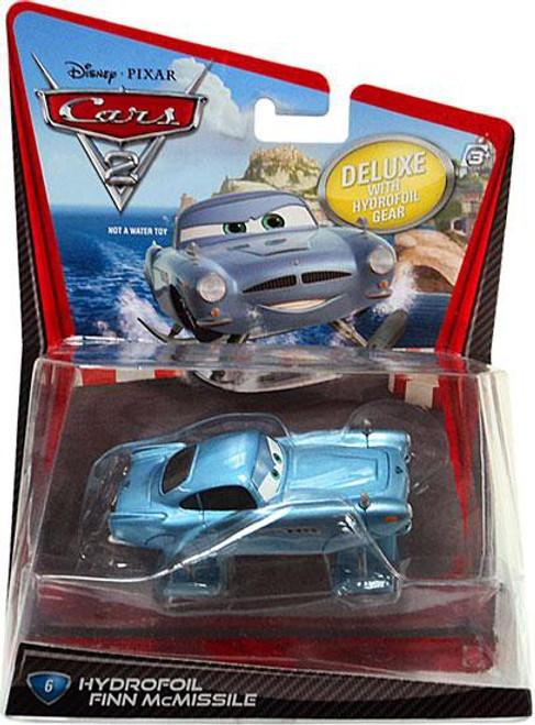Disney / Pixar Cars Cars 2 Deluxe Oversized Hydrofoil Finn McMissile Diecast Car #6