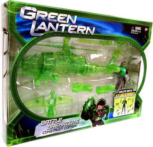 Green Lantern Movie Battle Breakout Construct Copter Exclusive Action Figure Vehicle