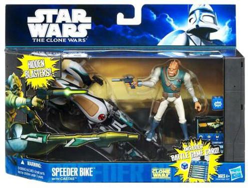 Star Wars The Clone Wars Speeder Bike with Castas Vehicle & Action Figure