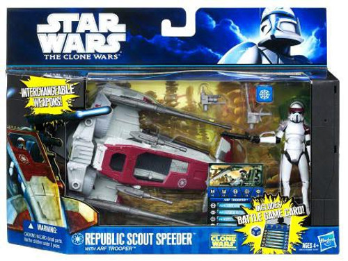 Star Wars The Clone Wars Republic Scout Speeder with ARF Trooper Vehicle & Action Figure
