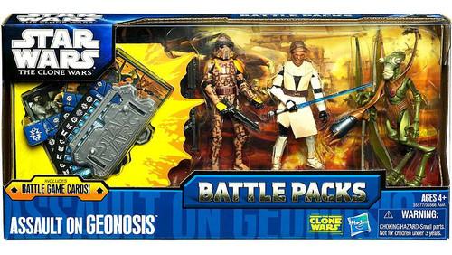 Star Wars The Clone Wars 2011 Battle Packs Assault on Geonosis Action Figure Set