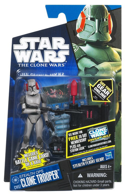 Star Wars The Clone Wars 2011 Stealth Ops Clone Trooper Action Figure CW57