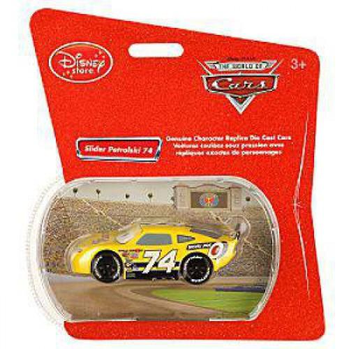 Disney / Pixar Cars 1:48 Single Packs Slider Petrolski No. 74 Exclusive Diecast Car [Sidewall Shine]