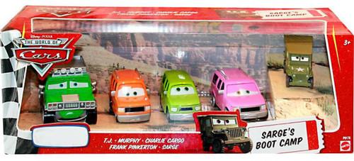 Disney / Pixar Cars The World of Cars Multi-Packs Sarge's Boot Camp 4-Pack Exclusive Diecast Car Set