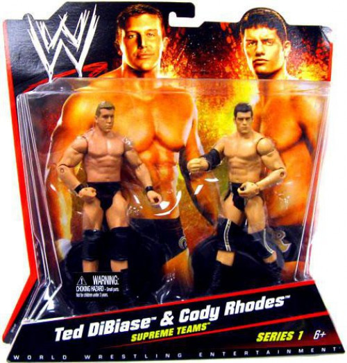 WWE Wrestling Battle Pack Series 1 Ted DiBiase & Cody Rhodes Action Figure 2-Pack