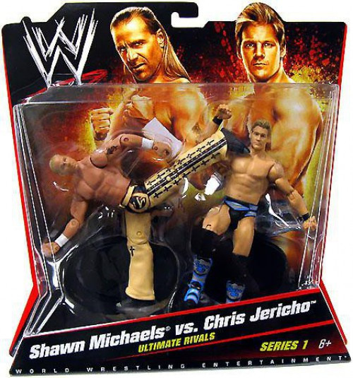 WWE Wrestling Battle Pack Shawn Michaels vs. Chris Jericho Action Figure 2-Pack