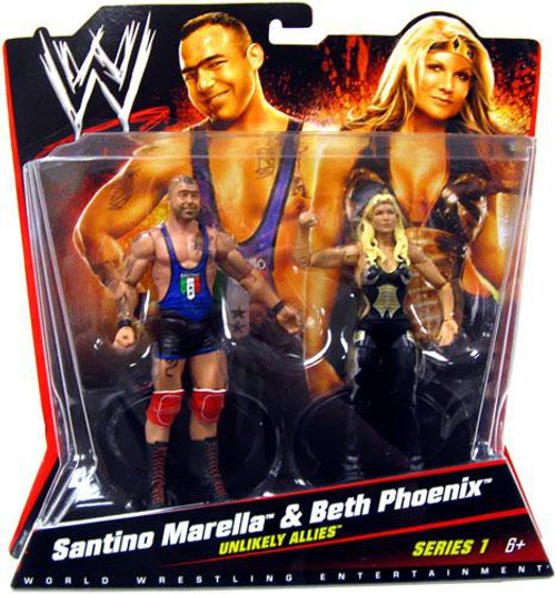 WWE Wrestling Battle Pack Santino Marella & Beth Phoenix Action Figure 2-Pack