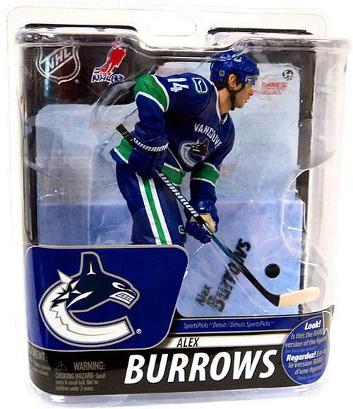 McFarlane Toys NHL Vancouver Canucks Sports Picks Series 29 Alex Burrows Action Figure