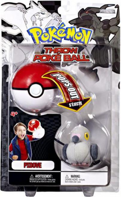 Pokemon Black & White B&W Series 2 Pidove Throw Poke Ball Plush
