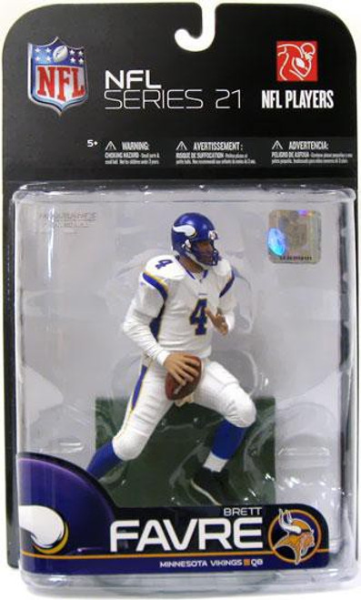 McFarlane Toys NFL Minnesota Vikings Sports Picks Exclusive Brett Favre Exclusive Action Figure [White Jersey]