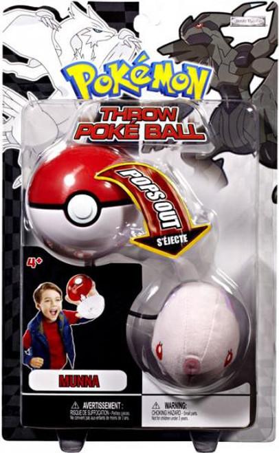 Pokemon Black & White B&W Series 2 Munna Throw Poke Ball Plush