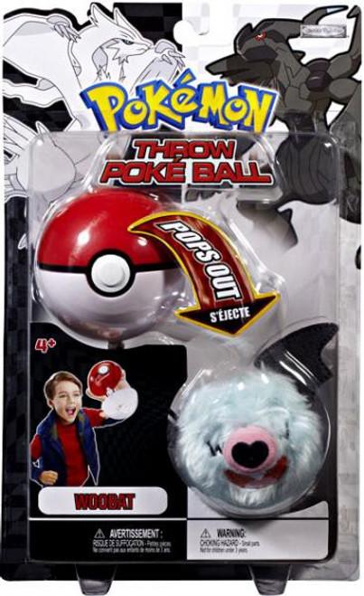 Pokemon Black & White B&W Series 2 Woobat Throw Poke Ball Plush