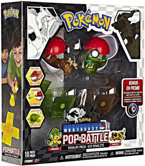Pokemon Black & White Series 2 Pop n' Battle Pansage vs. Sandile Rivalry Pack