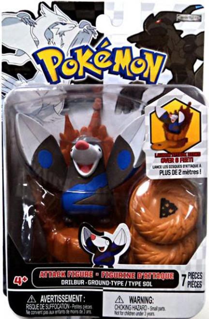 Pokemon Black & White Series 2 Attack Drilbur Figure