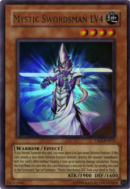 YuGiOh Dark Revelation 3 Ultra Rare Mystic Swordsman LV4 DR3-EN012