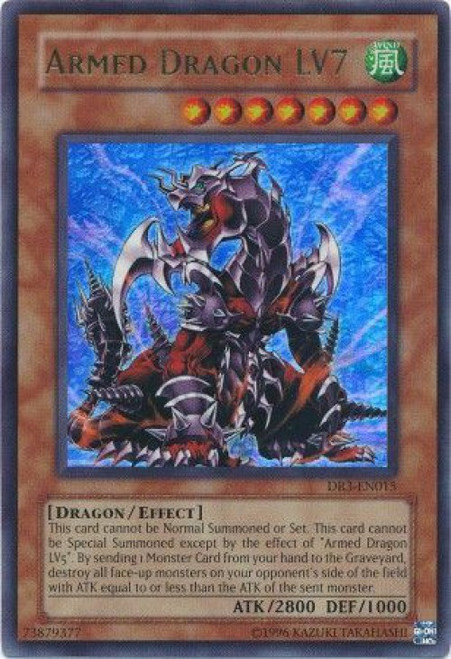YuGiOh Dark Revelation 3 Ultra Rare Armed Dragon LV7 DR3-EN015