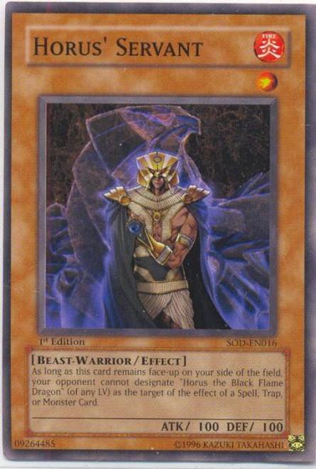 YuGiOh Dark Revelation 3 Common Horus' Servant DR3-EN016