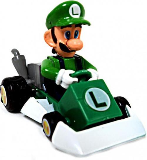 Super Mario Mario Kart Gacha Luigi 1.5-Inch Pull Back Racer [Square Front Bumper]