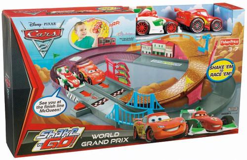 Fisher Price Disney / Pixar Cars Cars 2 Shake 'N Go World Grand Prix Playset