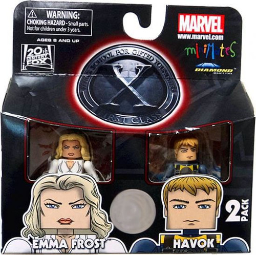 Marvel Minimates X-Men First Class Emma Frost & Havok Exclusive Minifigure 2-Pack