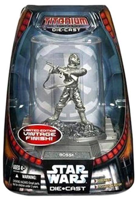 Star Wars The Clone Wars Titanium Series 2007 Bossk Diecast Figure [Vintage Finish]