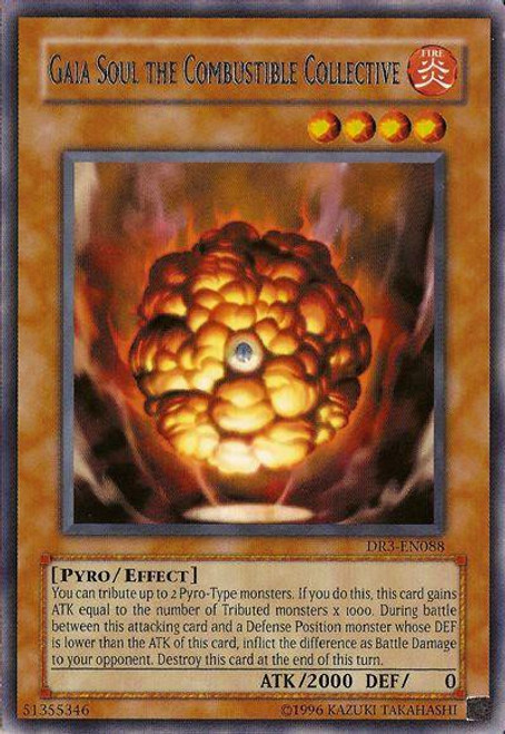 YuGiOh Dark Revelation 3 Rare Gaia Soul the Combustible Collective DR3-EN088