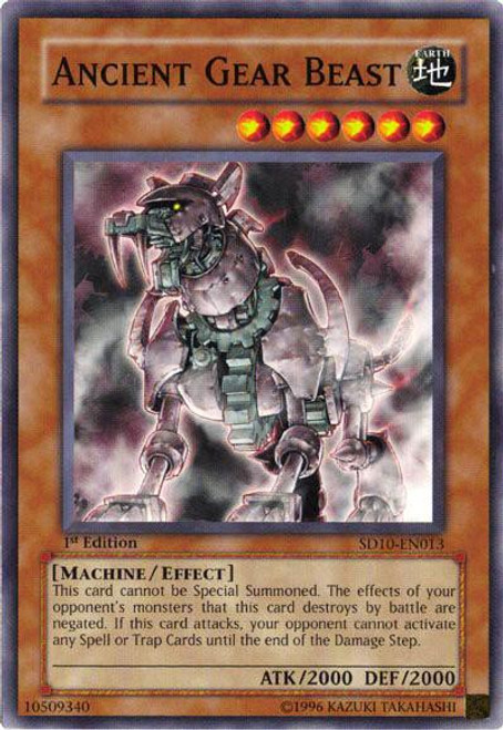 YuGiOh Dark Revelation 3 Rare Ancient Gear Beast DR3-EN187