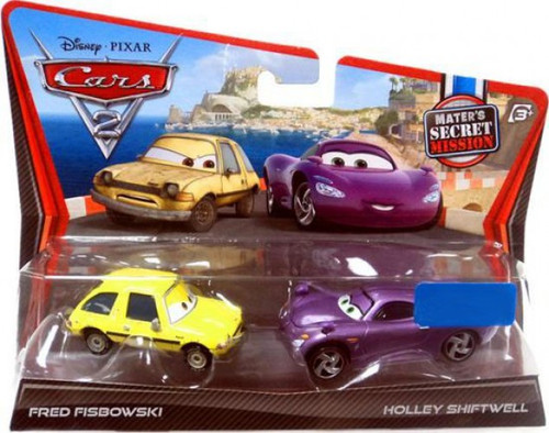 Disney / Pixar Cars Cars 2 Fred Fisbowski & Holley Shiftwell Exclusive Diecast Car 2-Pack