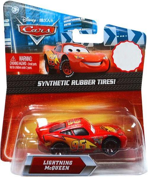 Disney / Pixar Cars Synthetic Rubber Tires Lightning McQueen Exclusive Diecast Car [Rust-Eze]