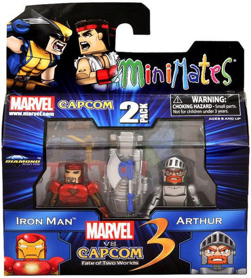 Marvel vs Capcom 3 Minimates Series 1 Iron Man Vs. Arthur Minifigure 2-Pack