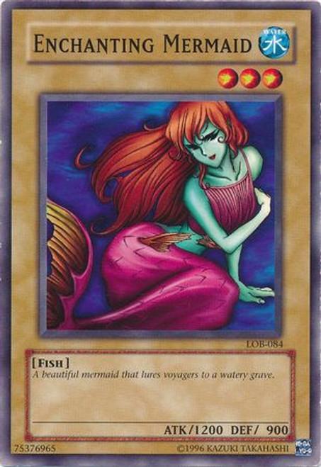 YuGiOh Legend of Blue Eyes White Dragon Common Enchanting Mermaid LOB-084