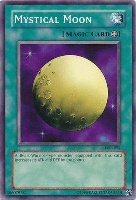 YuGiOh Legend of Blue Eyes White Dragon Common Mystical Moon LOB-094