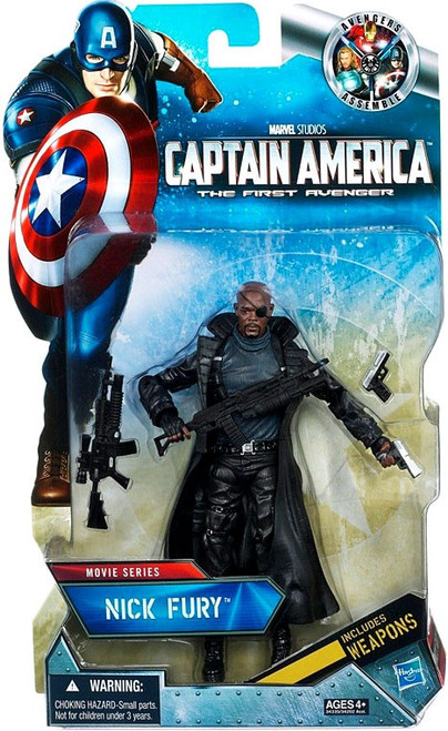 Captain America The First Avenger Movie Series 6 Inch Nick Fury Exclusive Action Figure