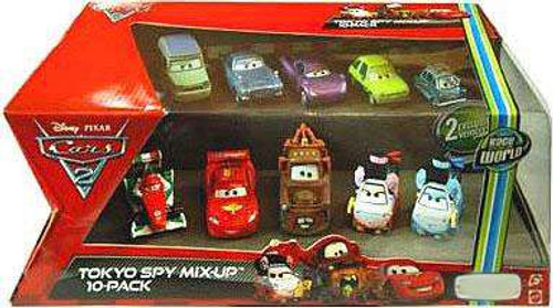 Disney / Pixar Cars Cars 2 Tokyo Spy Mix-Up Exclusive Diecast Car 10-Pack