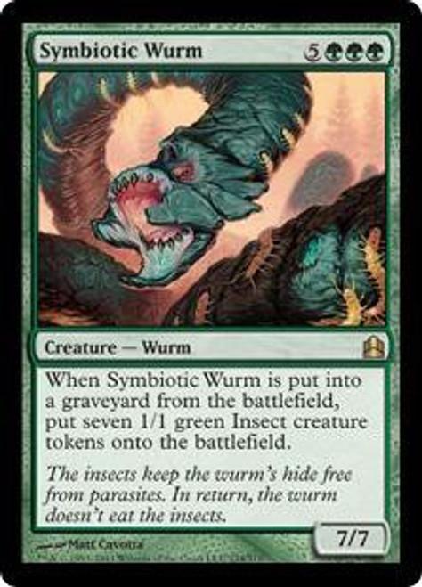 MtG Commander Rare Symbiotic Wurm #174