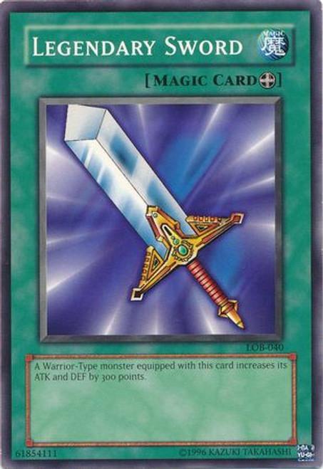 YuGiOh Legend of Blue Eyes White Dragon Common Legendary Sword LOB-040