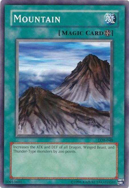 YuGiOh Legend of Blue Eyes White Dragon Common Mountain LOB-048